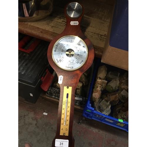 31 - A barometer...