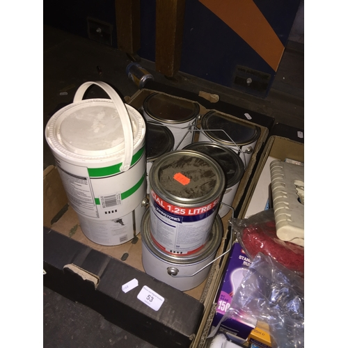 53 - 6 X 2L Conran paint and 2 others...