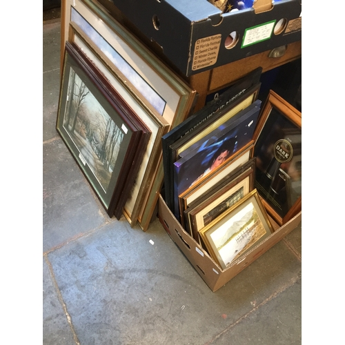 57 - A large quantity of paintings and prints...