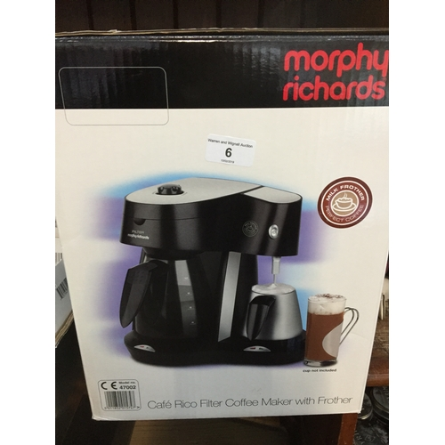 6 - A Morphy Richards filter coffee maker...