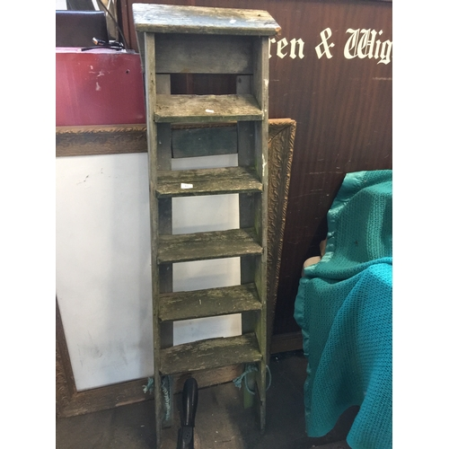 63 - Wooden step ladders...