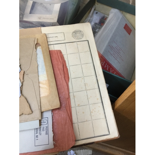 962 - Box of 1st day covers and stamps...
