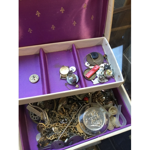 964 - Box of costume jewellery etc....