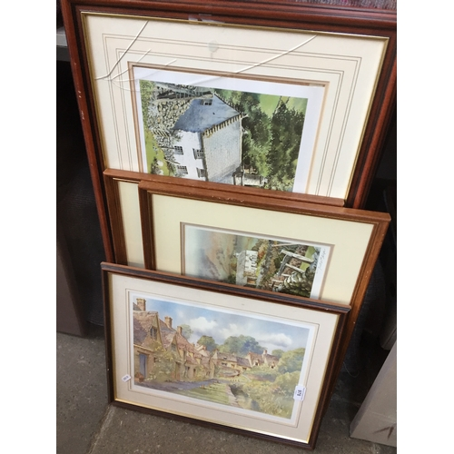 978 - 3 Judy Boyes limited editions signed prints and 1 another...