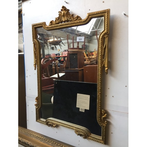 985 - Gold frame mirror...