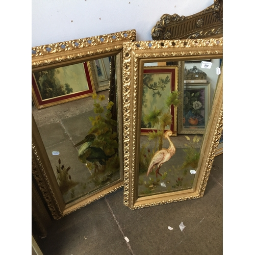 990 - 2 paintings on mirrors...