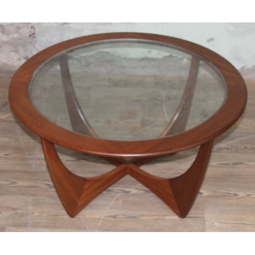 35 - A G-Plan Astro teak and glass top coffee table....