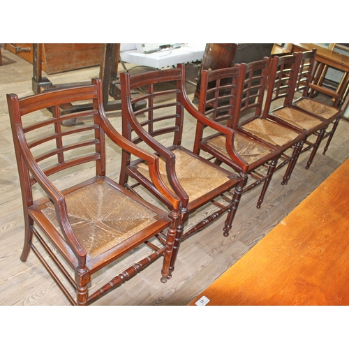 45 - A set of six Anglo-Japanese chairs in the manner of E.W. Godwin....