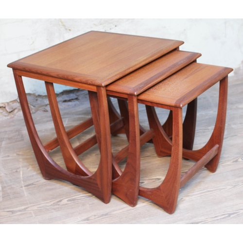 19 - A G-Plan teak nest of three tables....