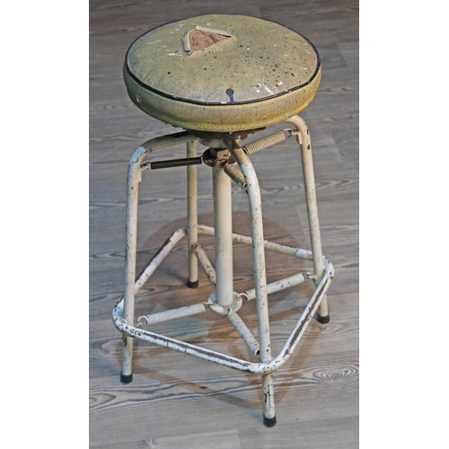 26 - A retro adjustable and sprung stool....