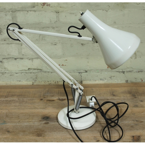46 - A Herbert Terry & Sons white anglepoise lamp....