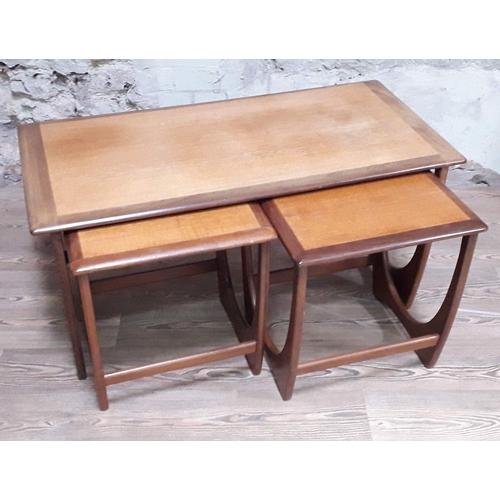 42 - A G-Plan teak nest of tables, length 100cm, depth 49cm & height 52cm....