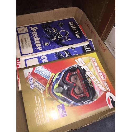 26 - A box of Speedway programmes...