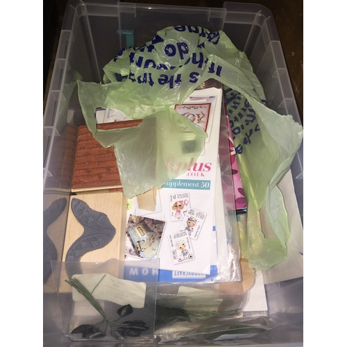 43 - A box of crafts items...