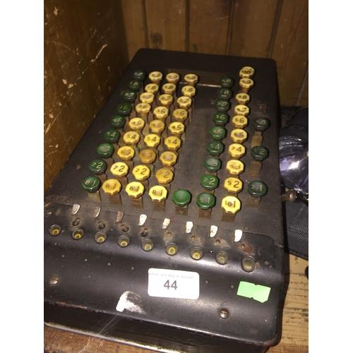 44 - A Felt & Tarrant comptometer...