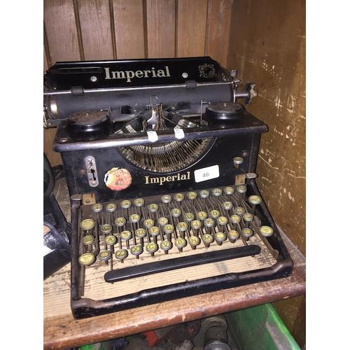46 - An Imperial typewriter...
