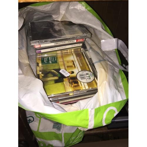 47 - A bag of CDs...