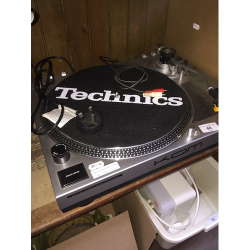 48 - A Technics KAM turntable - DDX750 Direct drive turntable...