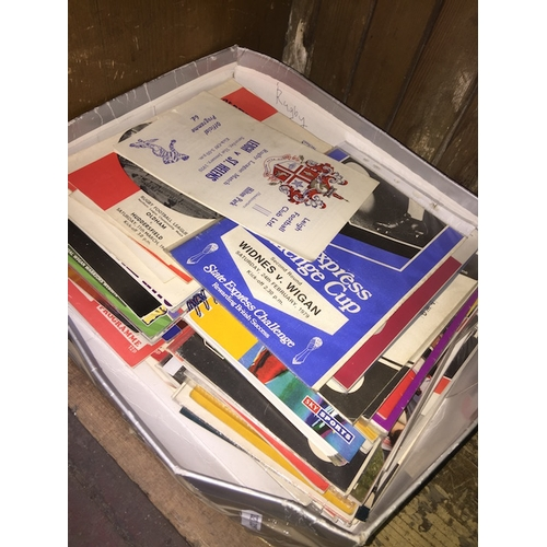 53 - A box of rugby programmes - mostly rugby league...