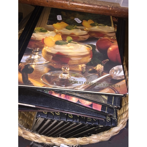 54 - A basket of cookery books...