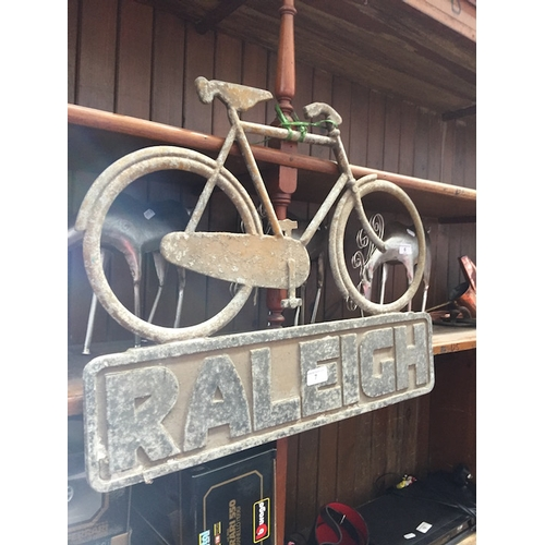 7 - A vintage Raleigh sign...