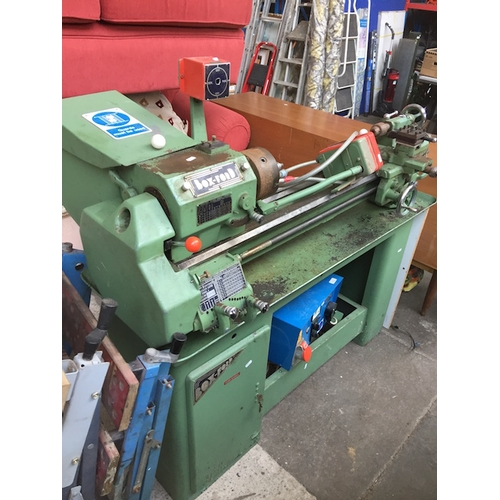 360 - A 4 and a half inch Box-Ford Precision Lathe - Model A, together with power converter unit - all unt...