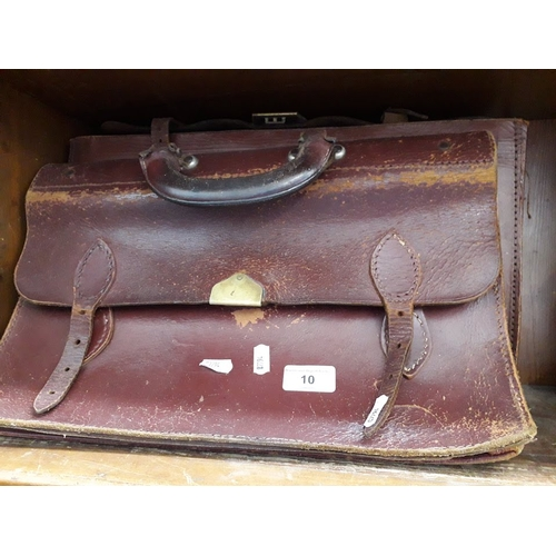 10 - 2 vintage leather briefcases...