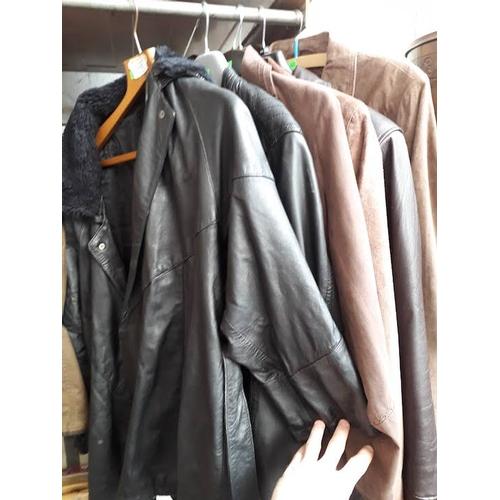 117 - 6 jackets - 5 leather...