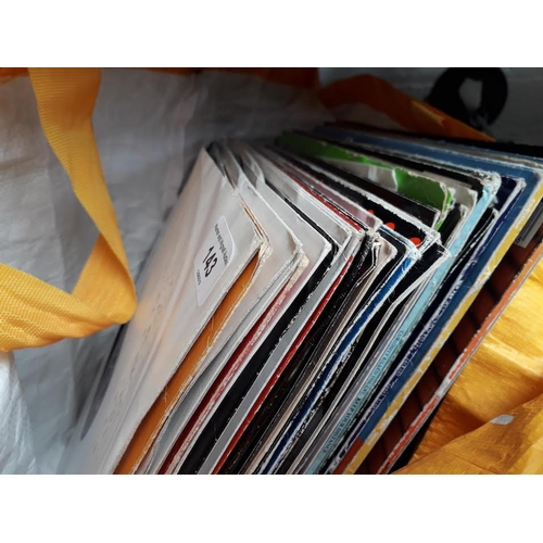 143 - A bag of records - dance, trance, etc ( approx 50 )...