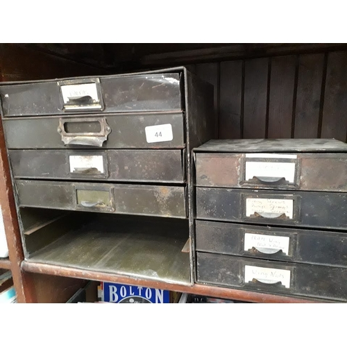 44 - 2 multidrawer metal units...