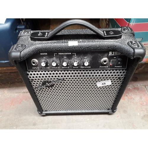 48 - A bass amp...
