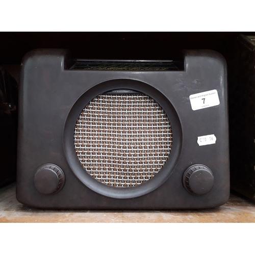 7 - A Bush Bakelite radio...