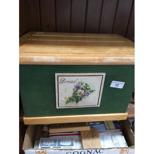 12 - A wooden bread bin...