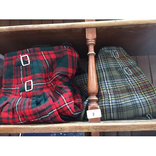 2 - 2 Tartan Scottish kilts...