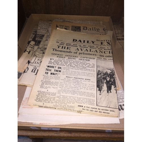 23 - A box of WW2 newspapers...