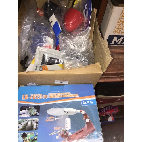 34 - A box of RC accessories...