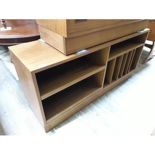 11 - A Danish teak HiFi cabinet, length 138cm....
