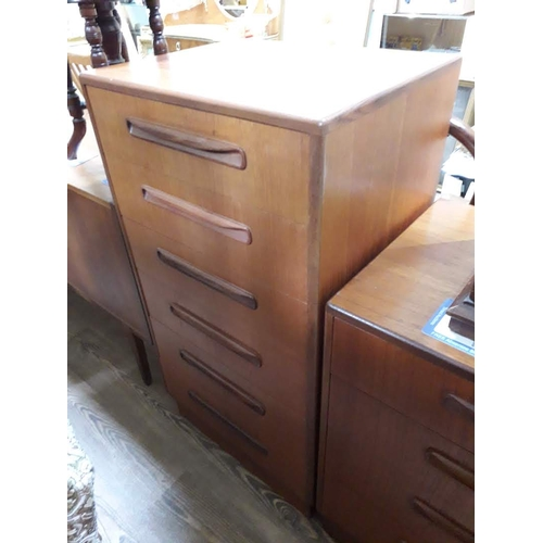 16 - A G-Plan teak chest of drawers, height 103cm....