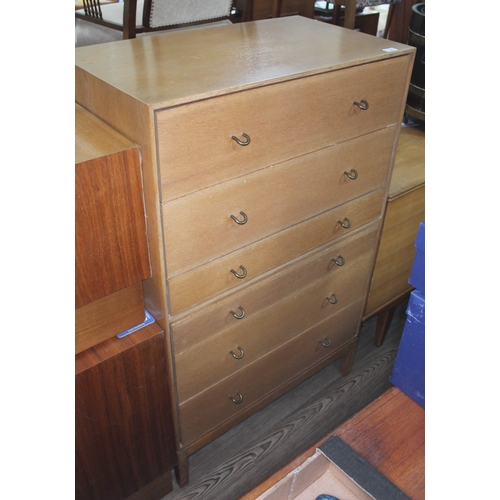 23 - A mid 20th century Stag chest of drawers, height 119cm....