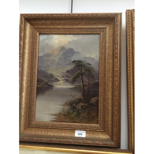 964 - David Hicks, lake and mountains, oil on canvas, 24c, x 34c, signed lower left, framed....