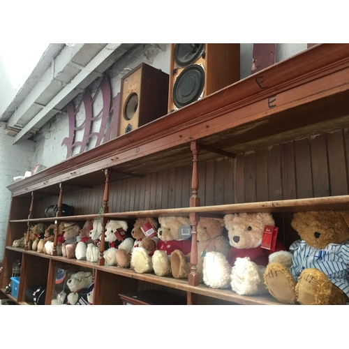 1 - A collection of 16 Harrods - MerryThought soft bears, different years, some with certificates....