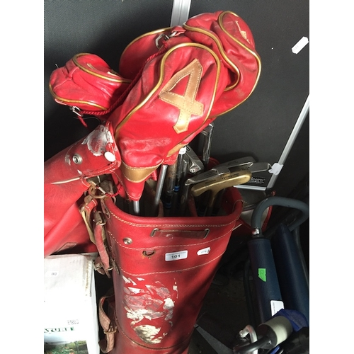 101 - A golf bag with set of golf clubs....