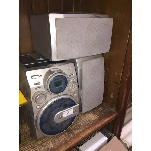 12 - An Alba CD / cassette / radio and pair of speakers....