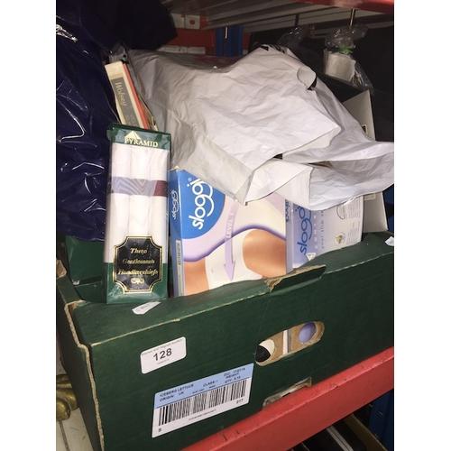 128 - A box of hosiery...