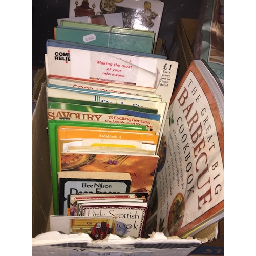 133 - 2 boxes of books including children's annuals...