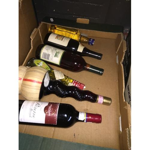 137 - A box of wine and liquor....
