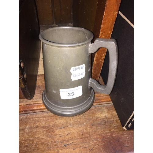 25 - A 1938 Hoover Ltd pewter tankard...