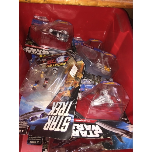 31 - A box of Hotweels - Star Wars toys....