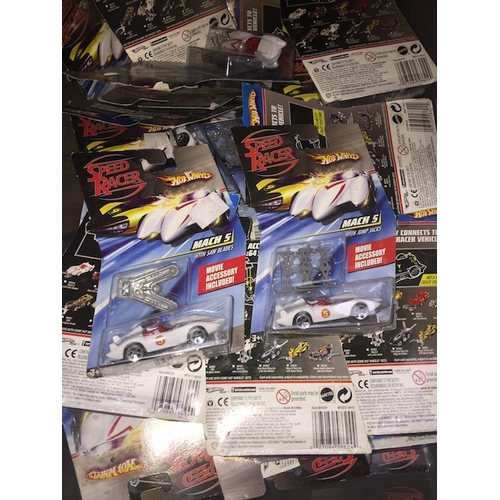 37 - A box of Hotweels toys....
