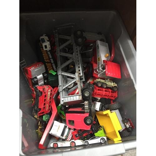 40 - A box of die-cast toys to include Corgi, Matchbox, etc....